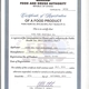 GOPDC - Ghana Food and Drugs Authority - Certificate of Food Product
